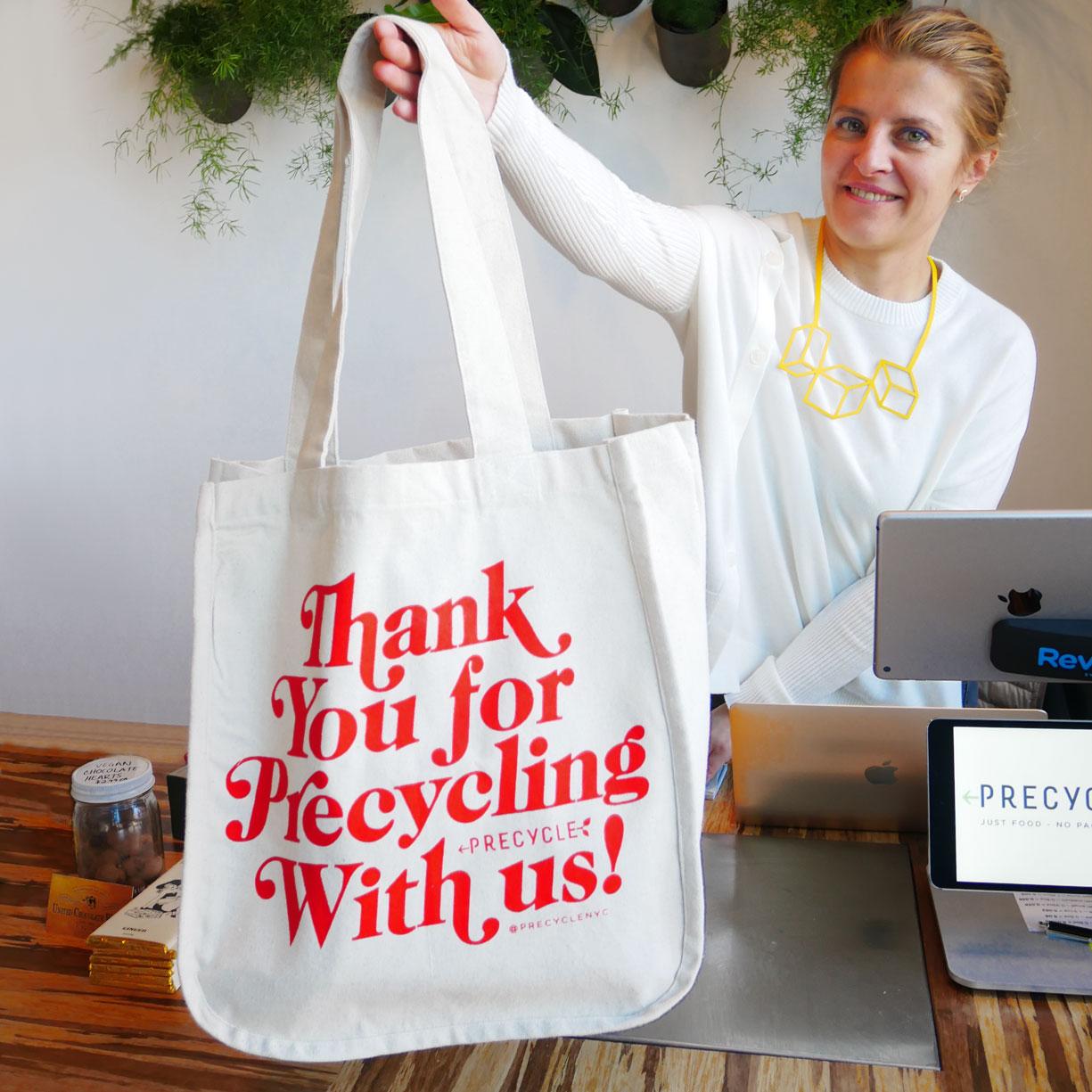 Suva Precycle Nyc Branding Logo Tote Bag Designs